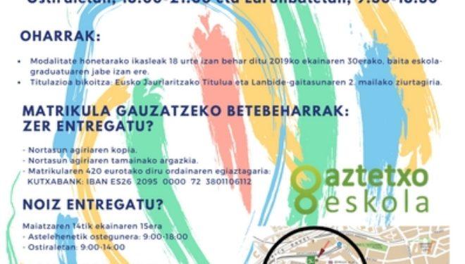 Aurtengo UDANEGU Begirale ikastaroa PREST!!!